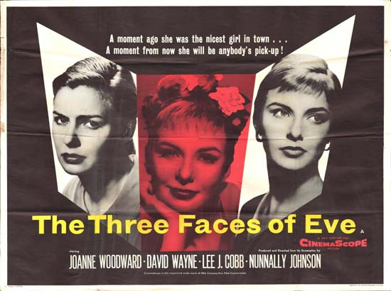 Image of Three Faces of Eve, The GB Quad movie poster