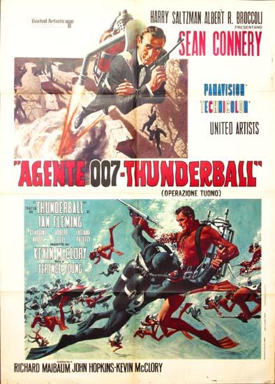 Thunderball Italian Due Fogli movie poster