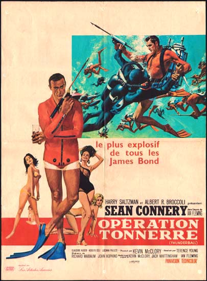 Thunderball French movie poster