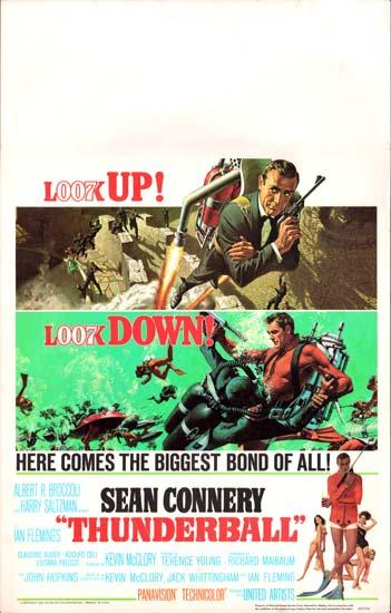 Thunderball US Window Card movie poster