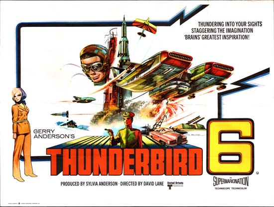 Thunderbird 6 UK Quad movie poster