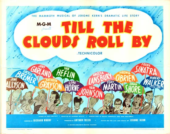 Till The Clouds Roll By US Half Sheet movie poster
