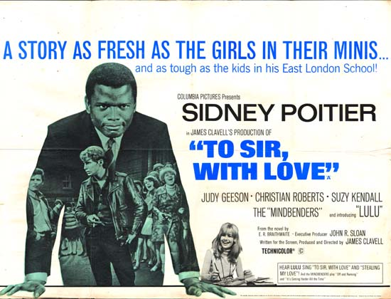 To Sir With Love UK Quad movie poster