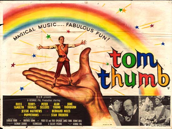 Tom Thumb UK Quad movie poster
