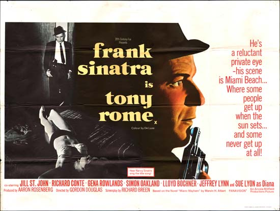Tony Rome UK Quad movie poster