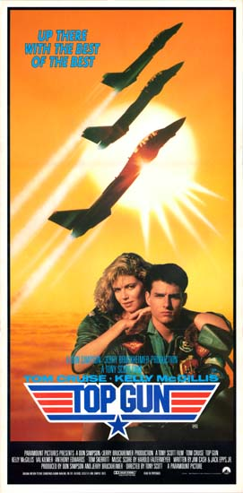 Top Gun Australian Daybill movie poster