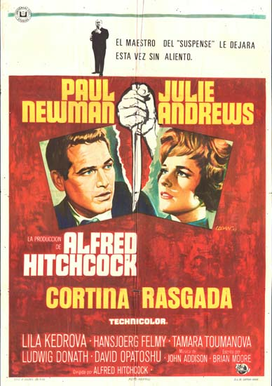Torn Curtain Spanish One Sheet movie poster