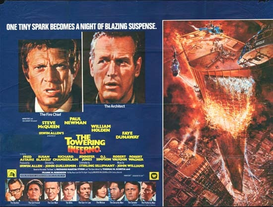 Towering Inferno, The GB Quad movie poster