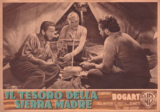 Treasure of the Sierra Madre, The Italian Photobusta movie poster