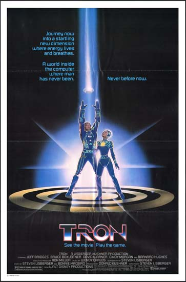 TRON US One Sheet studio release movie poster