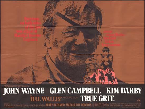 True Grit UK Quad movie poster