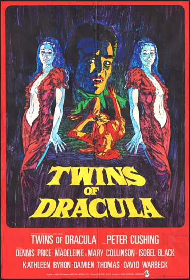 Twins of Evil [ Twins of Dracula ] UK One Sheet movie poster