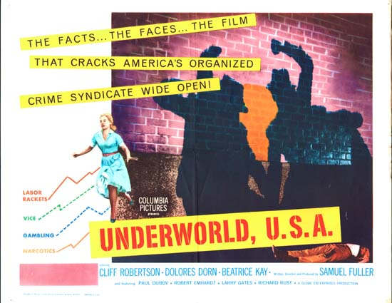 Underworld USA US Half Sheet movie poster