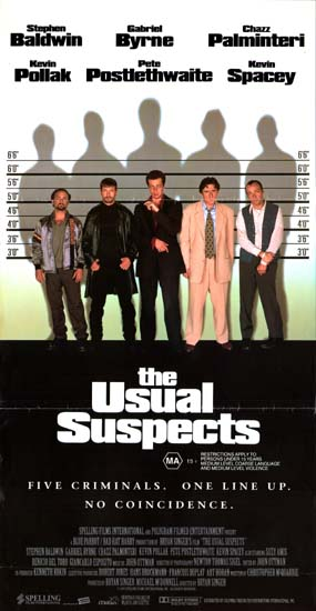 Usual Suspects, The Australian Daybill movie poster