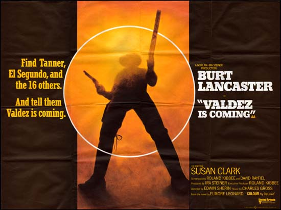 Valdez is Coming UK Quad movie poster