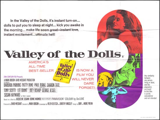 Valley of the Dolls UK Quad movie poster