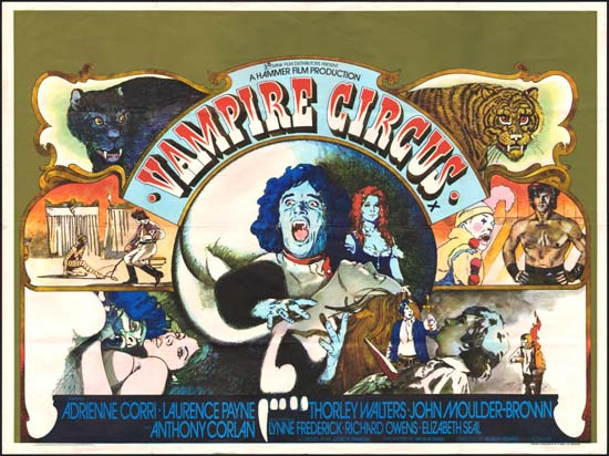 Vampire Circus UK Quad movie poster