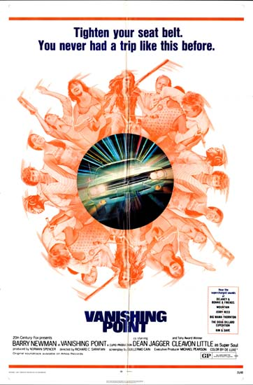 Vanishing Point US One Sheet movie poster