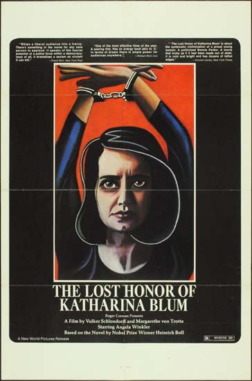 Verlorene Ehre der Katharina Blum, Die [ The Lost Honor of Katharina Blum ] US One Sheet movie poster