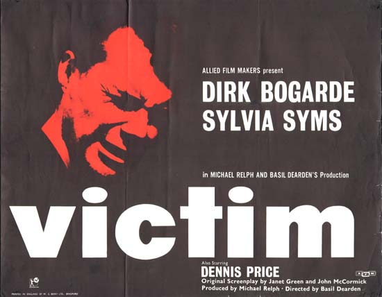 Victim UK Half Sheet movie poster