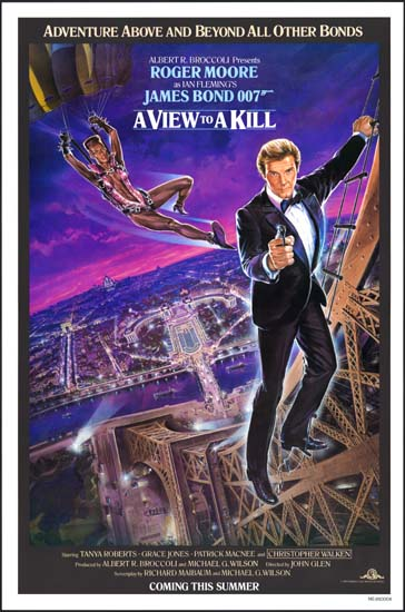View to a Kill, A US One Sheet intl advance movie poster