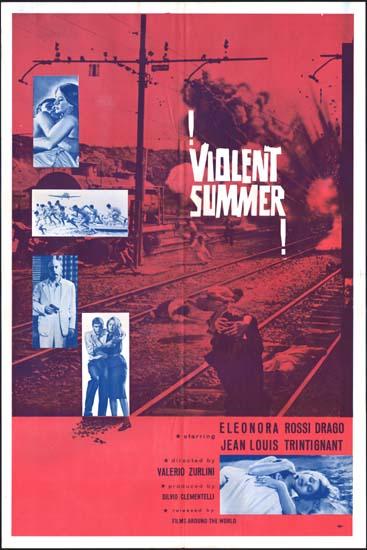 Violent Summer [ Estate Violenta ] US One Sheet movie poster