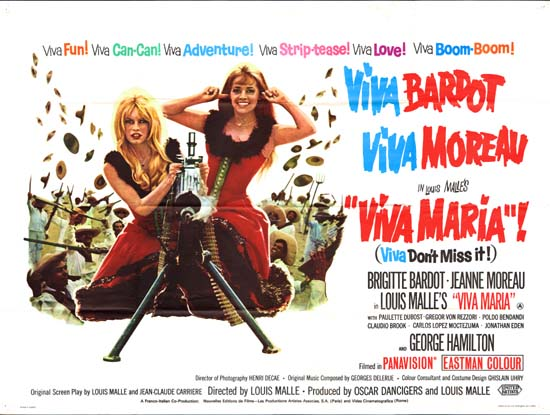 Viva Maria UK Quad movie poster