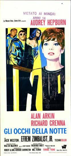 Wait Until Dark Italian Locandina movie poster