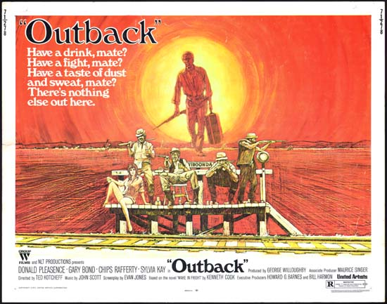 Wake in Fright [ Outback ] US Half Sheet movie poster