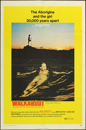 Walkabout US One Sheet style A movie poster