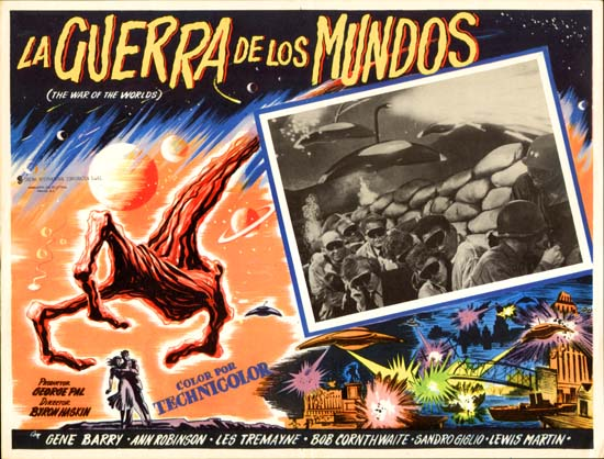 War of the Worlds Mexican Lobby Card