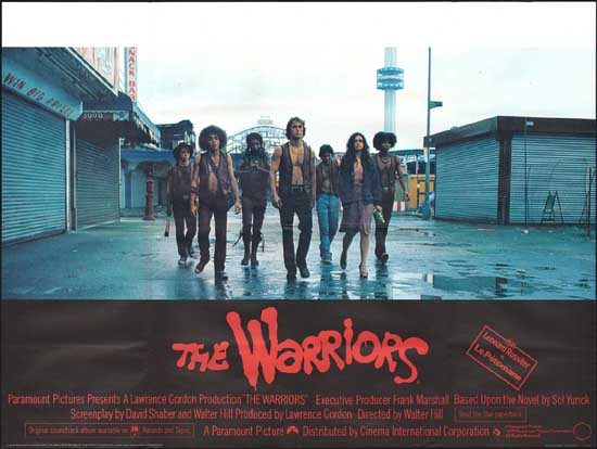 Warriors, The UK Quad movie poster