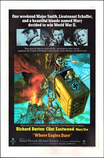 Where Eagles Dare US One Sheet style A movie poster