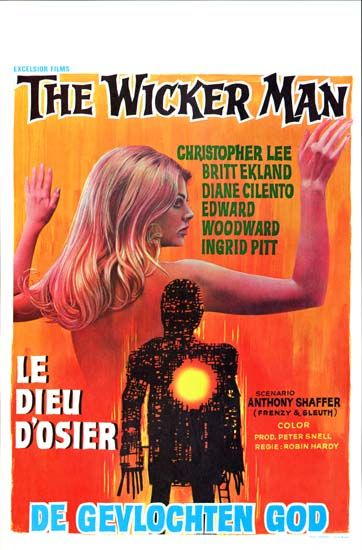 Wicker Man, The Belgian movie poster