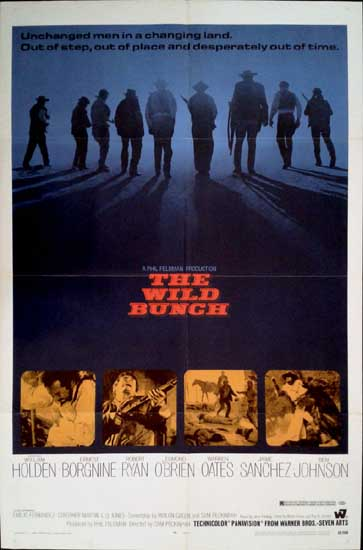 Wild Bunch, The US One Sheet movie poster