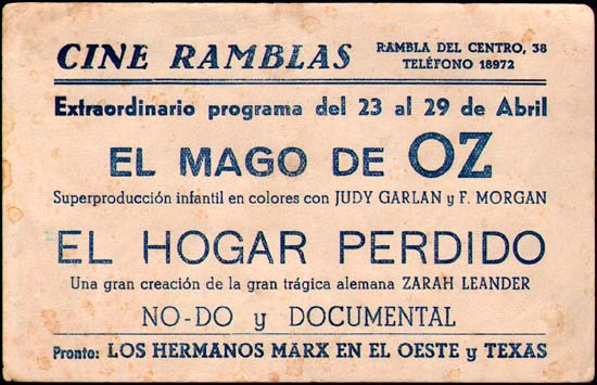 Image 2 of Wizard of Oz, The Spanish Herald