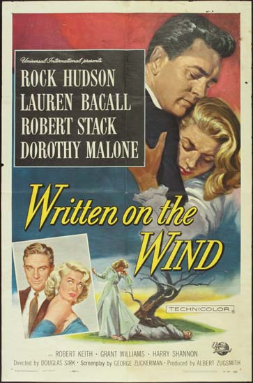 Written on the Wind US One Sheet movie poster