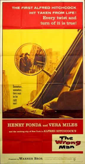 Wrong Man, The US Three Sheet movie poster