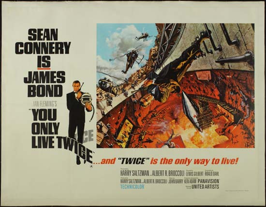 You Only Live Twice UK Quad style A movie poster
