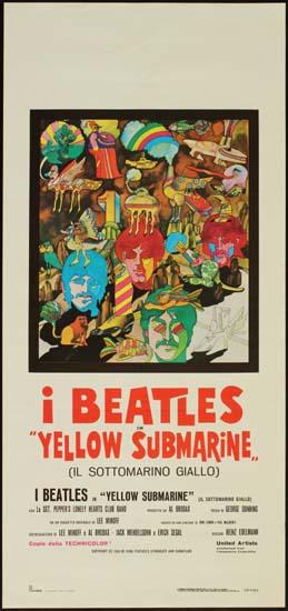 Yellow Submarine Italian Locandina movie poster