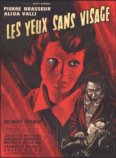 Yeux Sans Visage, Les ( Eyes Without a Face ] French movie poster