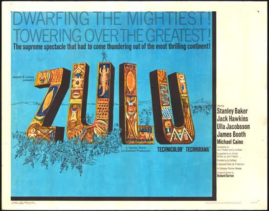 Zulu US Half Sheet movie poster