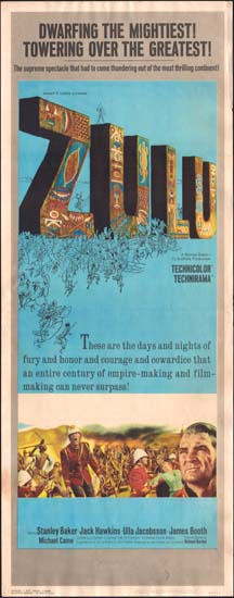 Zulu US Insert movie poster