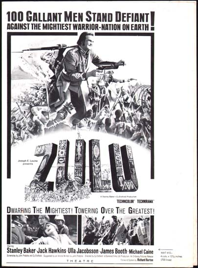 Zulu US Advertising Supplement movie poster
