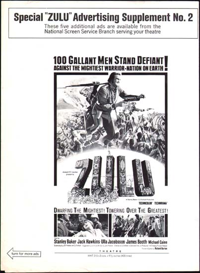 Image 3 of Zulu US Advertising Supplement movie poster